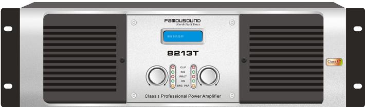 FAMOUSOUND 8000T系列,创造K歌娱乐先锋! >> 运用超I类核心输出技术,结合传统的工频电源,细腻、力度、安静,营造针对娱乐空间的美妙音质; >> 专利的光控音量控制技术,大幅提高本底噪音指标,令音色更宽广纯正; >> 综合的LED显示器可以显示完整的机器状态,随时跟踪功放的散热温度和电平; >> 全面采用顶级音频芯片,整机具备智能全方位电子电路高速保护; >> AI、SMD、波峰和回流焊接和ICT等自动化制程